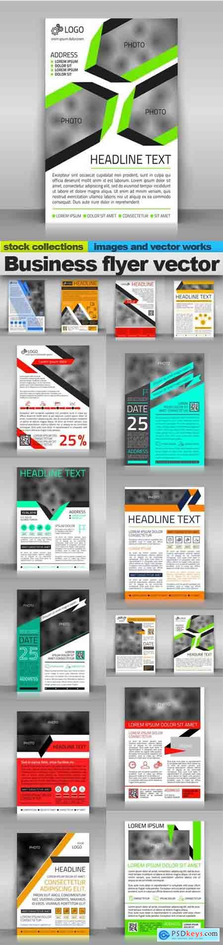 Business flyer vector, 15 x EPS