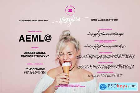 Creativemarket Nastyliss — A Modern Script Font Duo