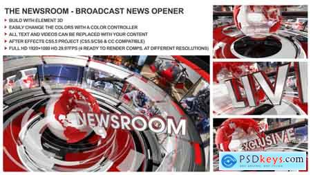 Videohive The Newsroom - Broadcast Design News Opener Free