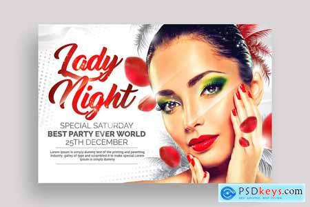 4 Ladies Night Out Party Flyers