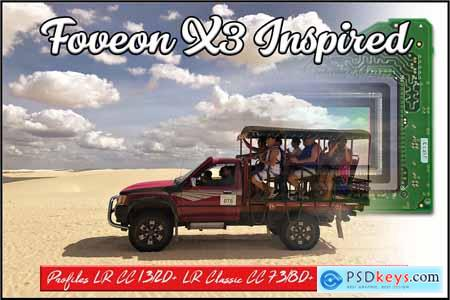 Foveon X3 Inspired profiles LR ACR