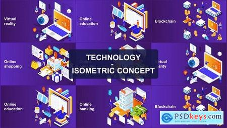 Videohive Technology - Isometric Concept Free