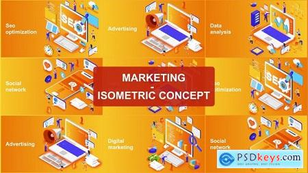 Videohive Marketing - Isometric Concept Free