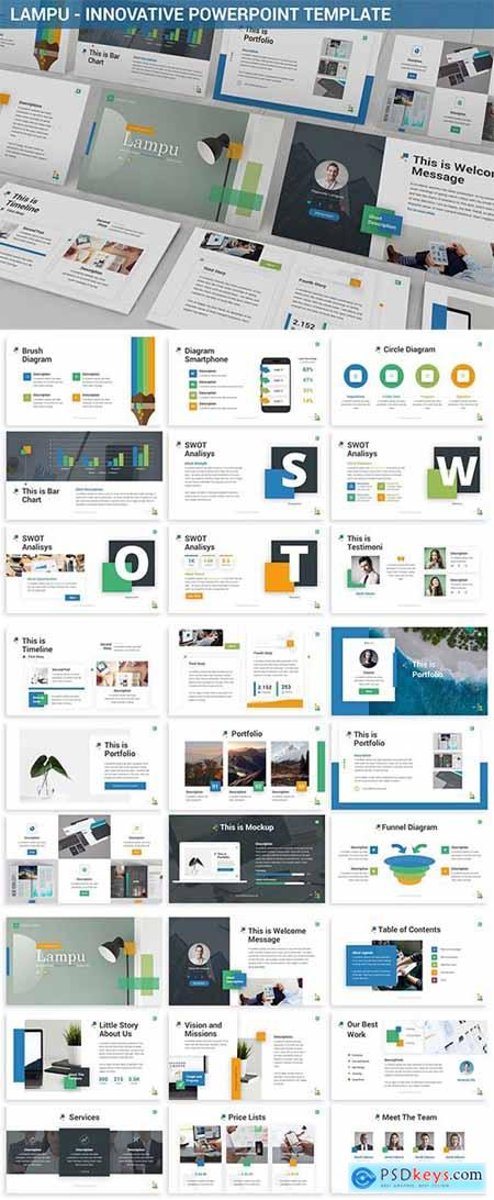 Lampu - Innovative Powerpoint Template » Free Download Photoshop