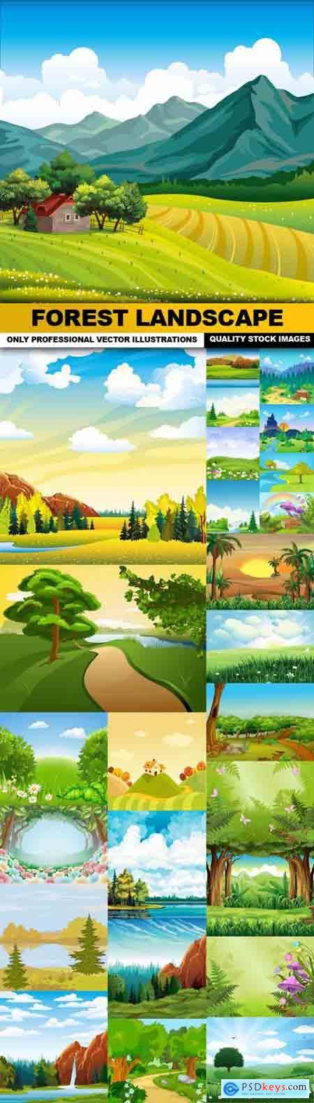 Forest Landscape - 27 Vector