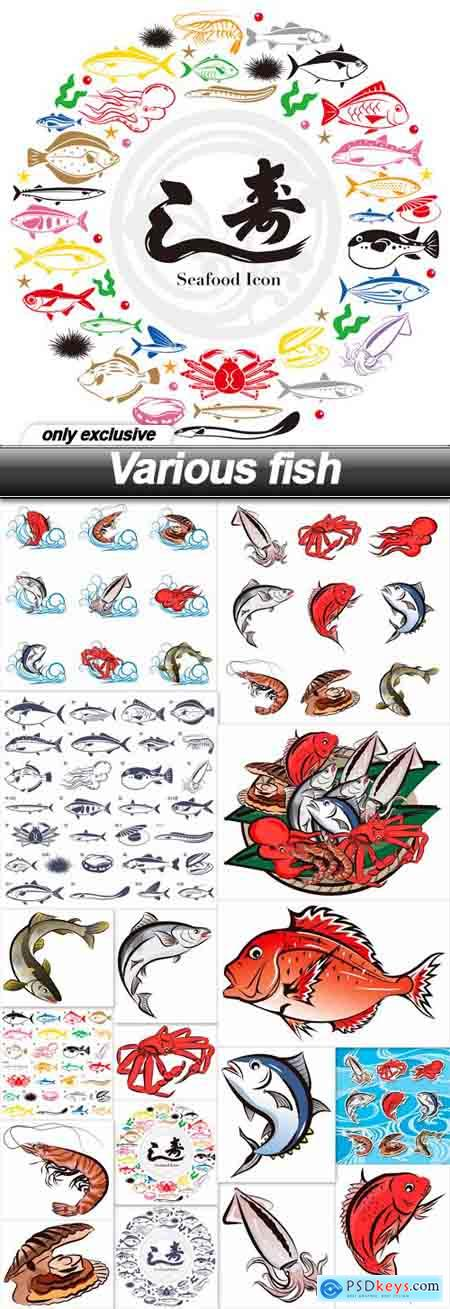 Various fish - 17 EPS