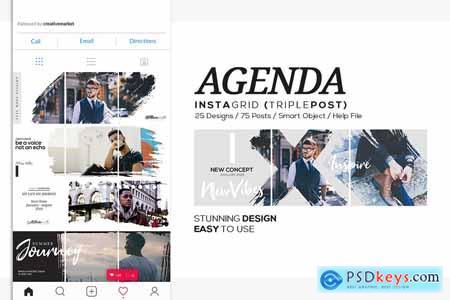 Agenda Insta Grid (Triple Posts)