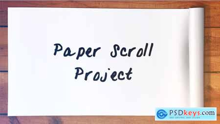 Videohive Paper Scroll Project Free