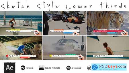 Videohive Lower Thirds - Sketch Free