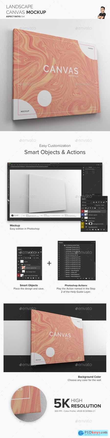 Landscape Canvas Ratio 5x4 Mockup 01