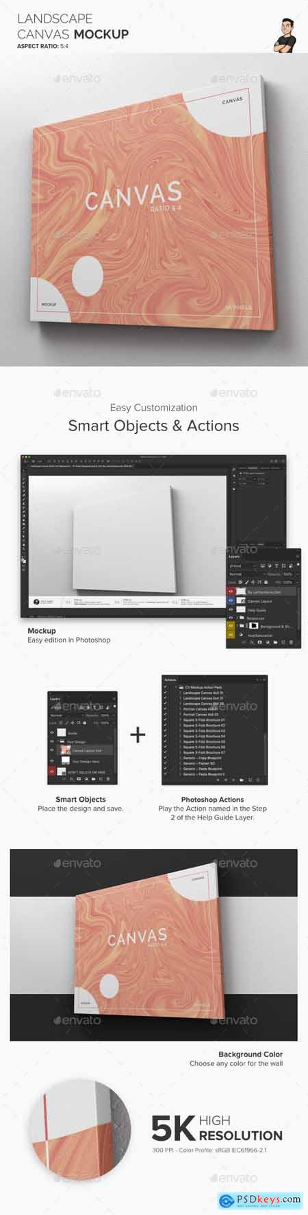Landscape Canvas Ratio 5x4 Mockup 02