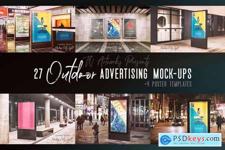 27 Outdoor Advertising Mockups