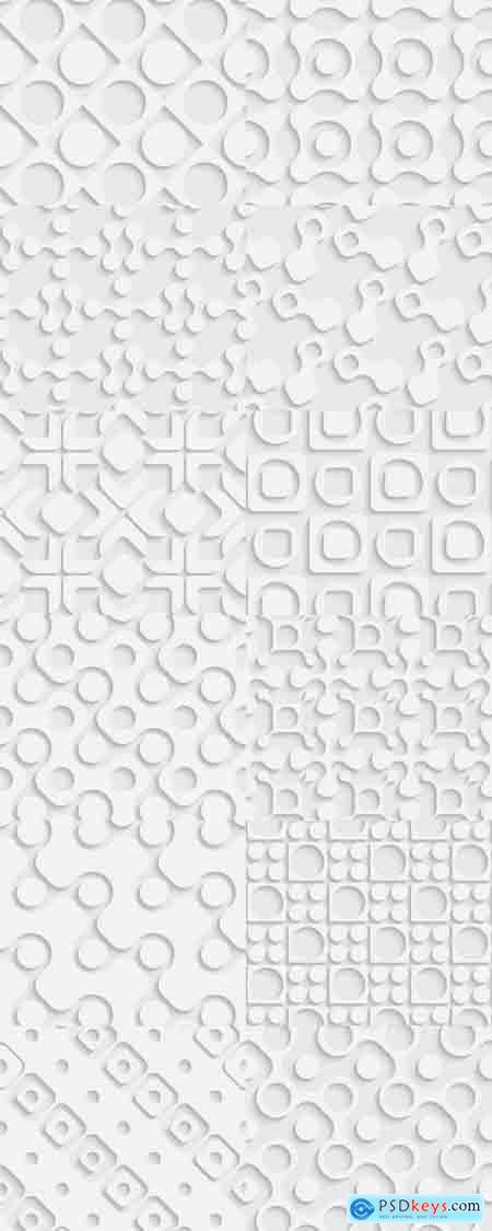 Seamless Geometric Pattern - Abstract Light Background
