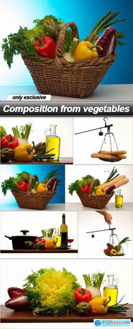 Composition from vegetables - 7 UHQ JPEG