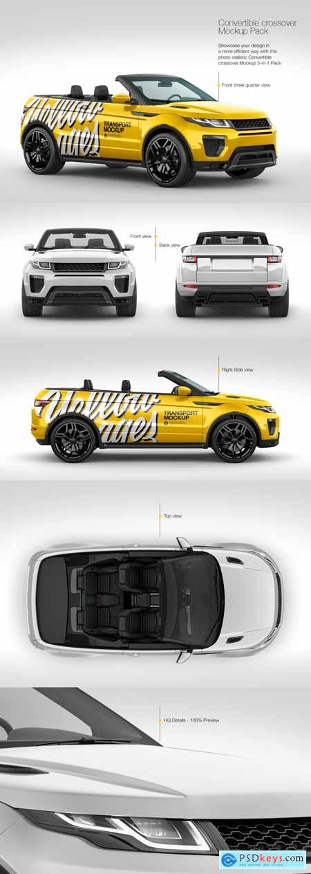 Convertible Crossover Mockup Pack