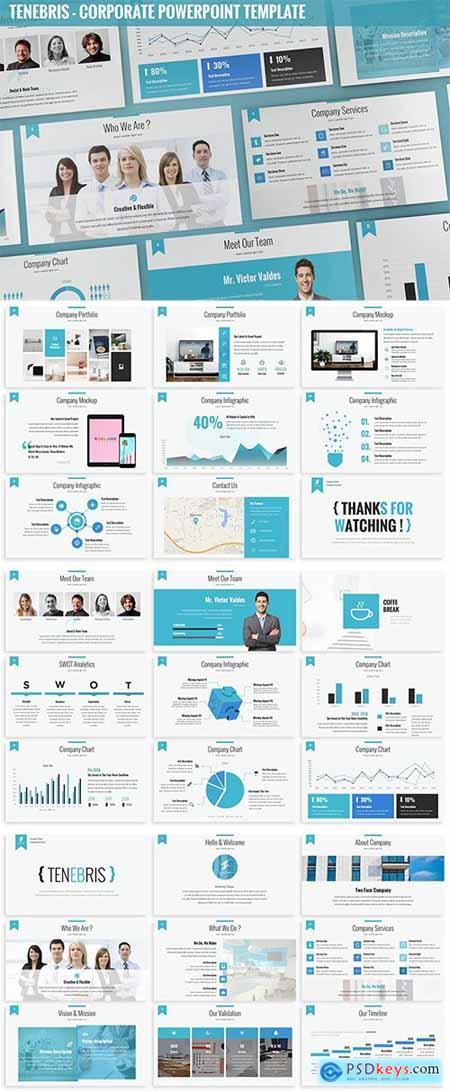 Tenebris - Corporate Powerpoint Template » Free Download
