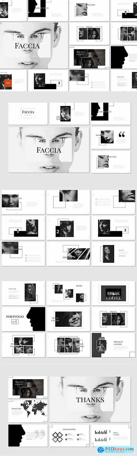 Faccia - Powerpoint, Keynote, Google Slides Templates