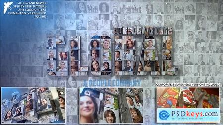 Videohive Corporate Mosaic Logo Free