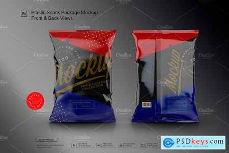 Plastic Snack Package Mockup F&B