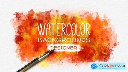 Videohive Watercolor Background Designer Free