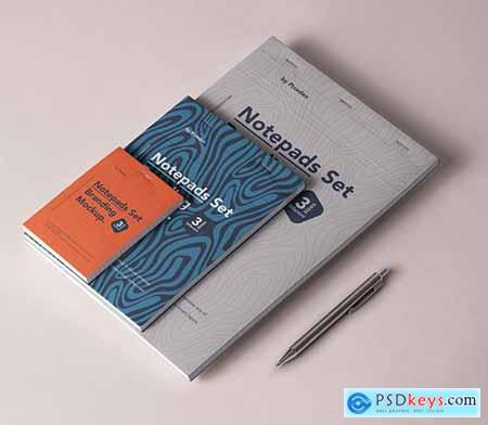 Notepad Set Branding Mockup