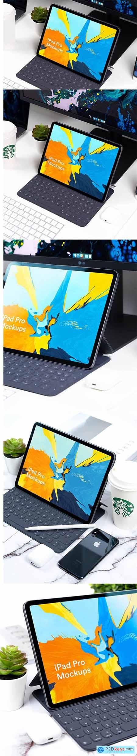 iPad Pro 2018 Mockup Black v1 workspace