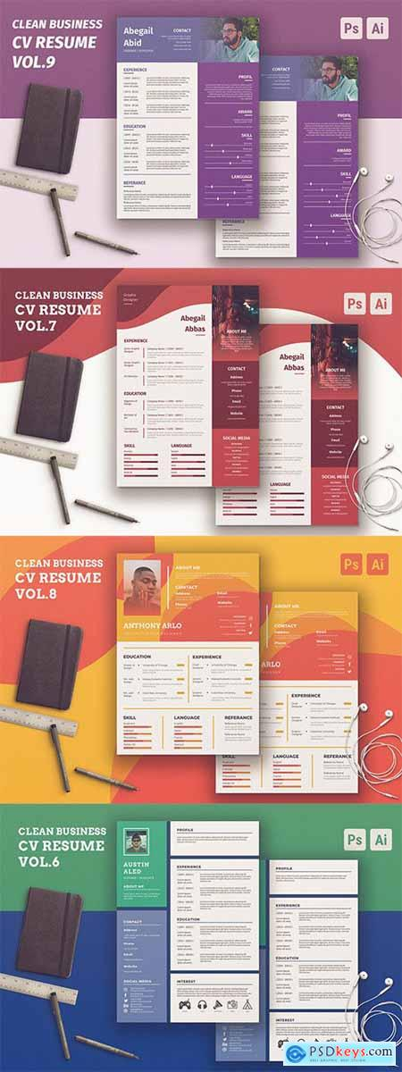 Clean Resume Vol.6-9