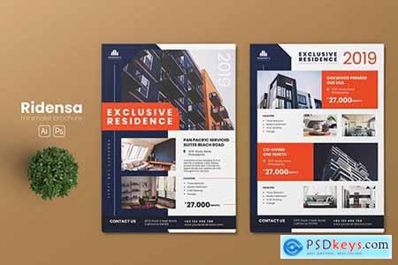Minimalist Property AI and PSD Flyer Vol.01