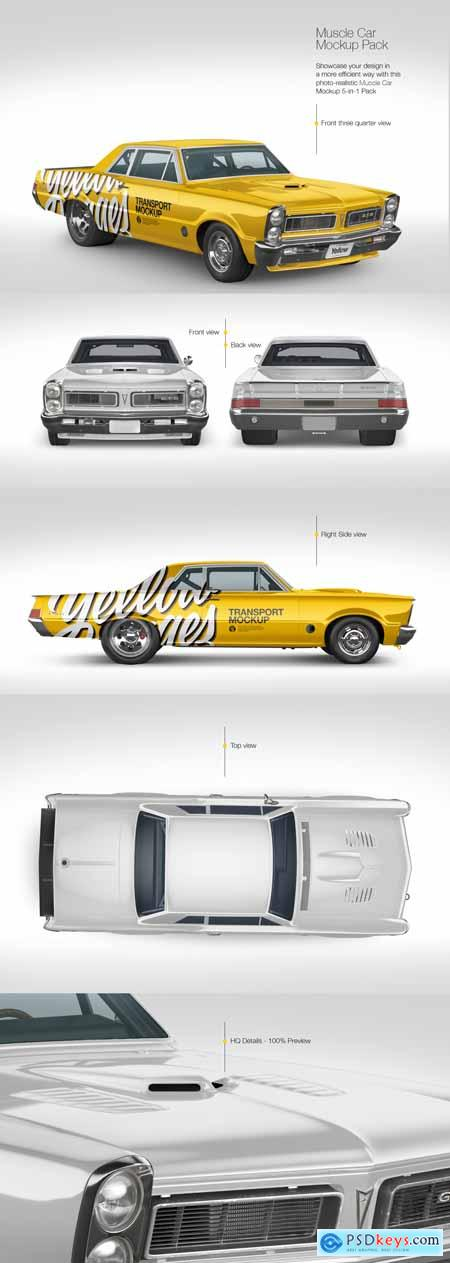 Muscle Car Mockup Pack