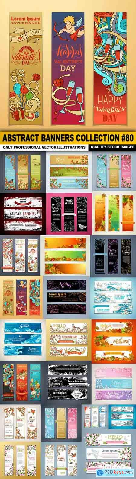 Abstract Banners Collection #80 - 25 Vectors