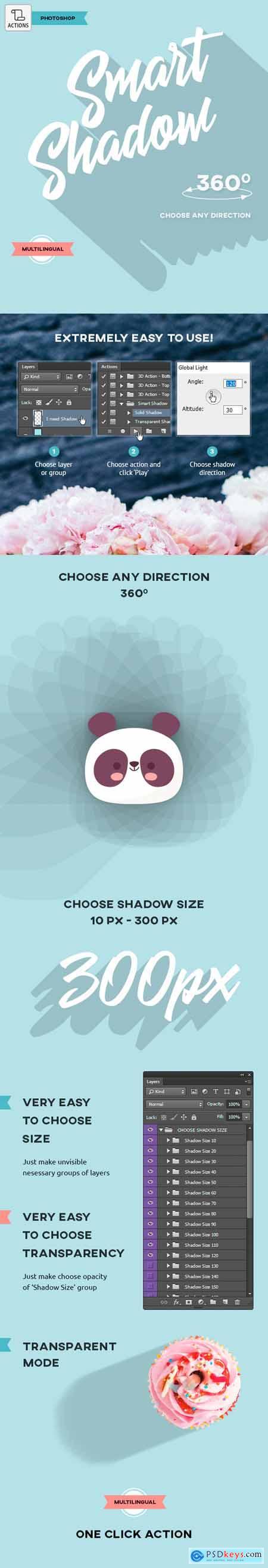 Smart Shadow - Photoshop Action
