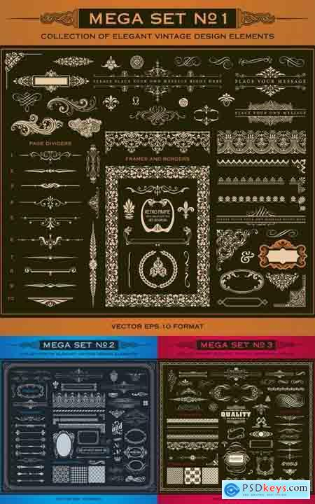 Collection of Decorative Vector Design Elements
