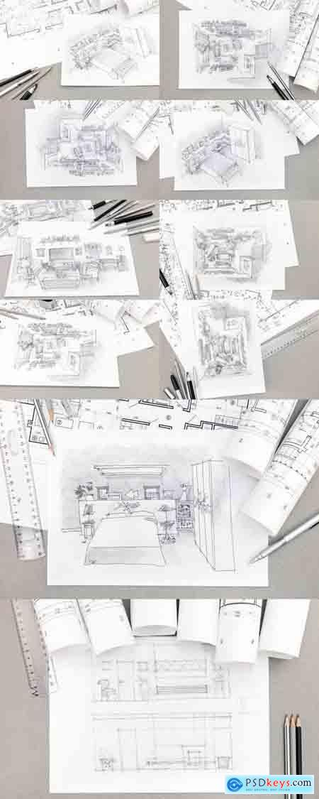 Architectural Hand-Drawn Sketch