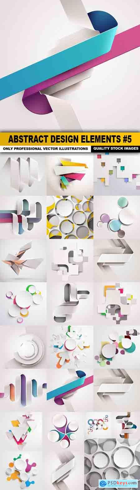 Abstract Design Elements #5 - 25 Vectors