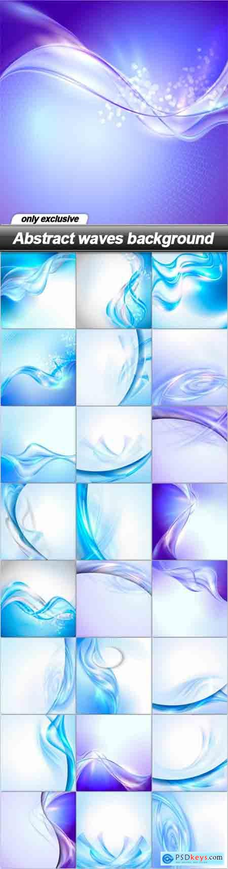 Abstract waves background - 25 EPS