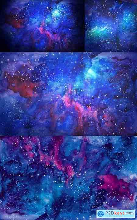 Blue Universe Space Abstract Background