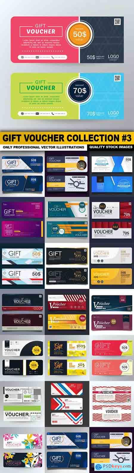 Gift Voucher Collection #3 - 20 Vector