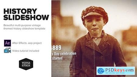Videohive Burned History Frames Slideshow Free