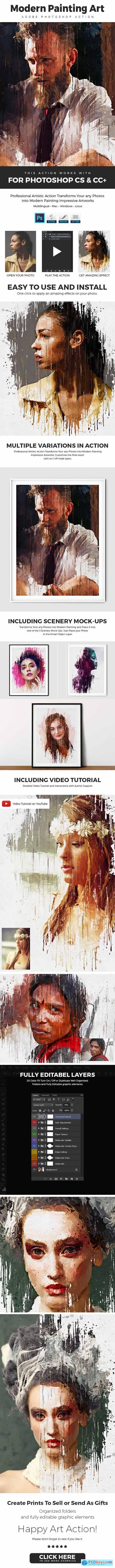 Modern - Painting Art Photoshop Action