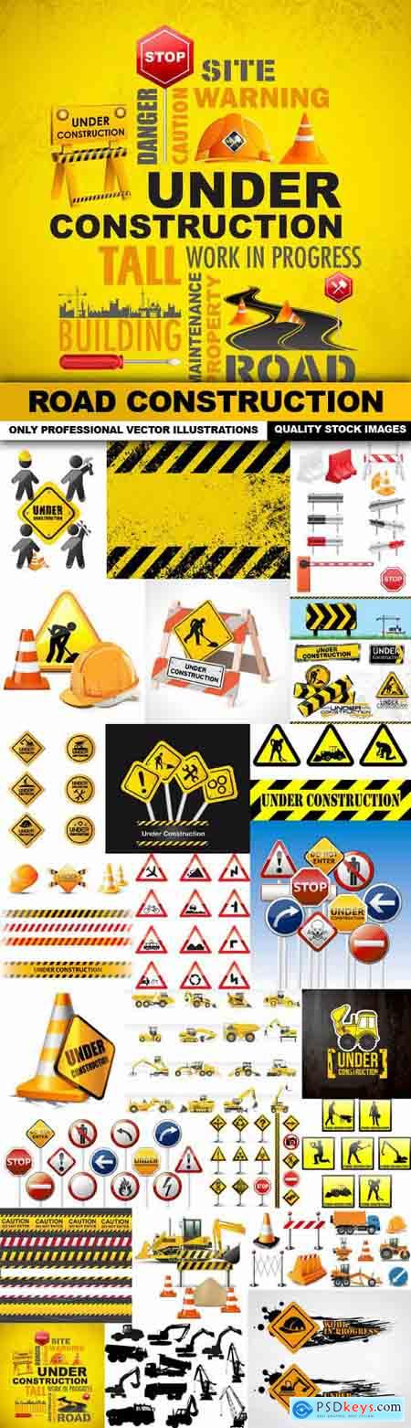 Road Construction - 25 Vector