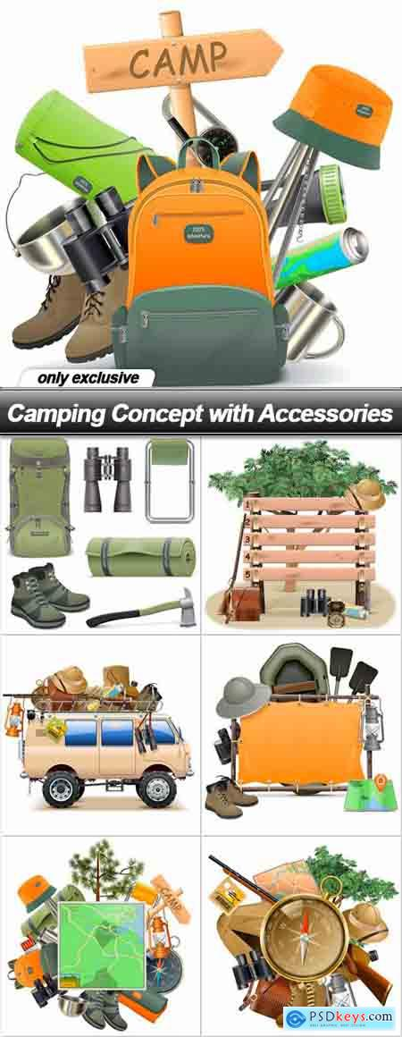 Camping Concept with Accessories - 7 EPS