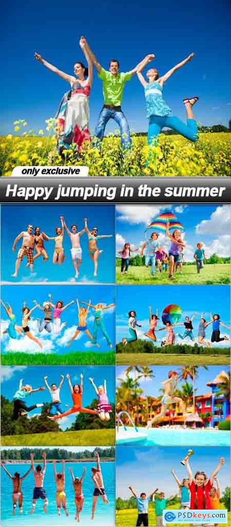 Happy jumping in the summer - 9 UHQ JPEG
