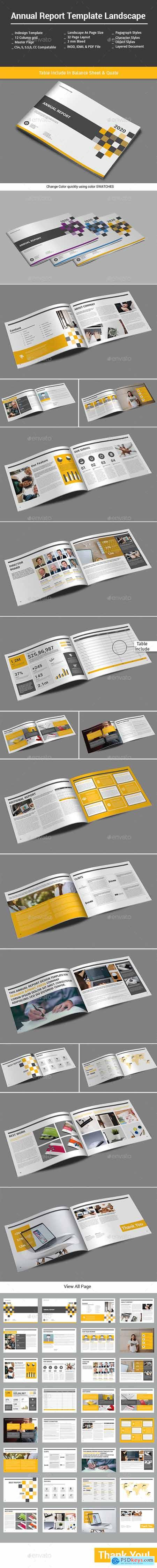 Annual Report Template Landscape