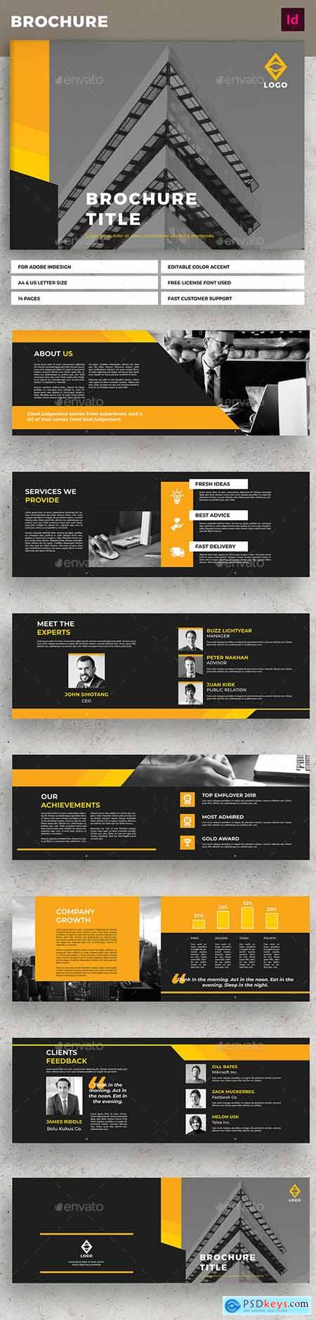 Yellow Landscape Business Brochure