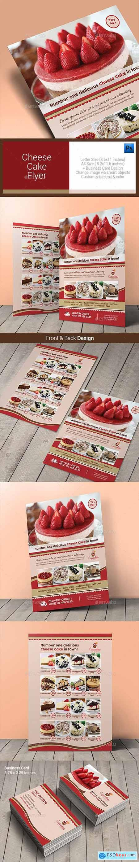 Cheese Cake Menu Flyer