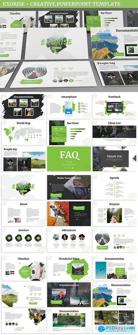 Exorise - Creative Powerpoint Template