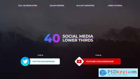 Videohive Social Media Lower Thirds Free