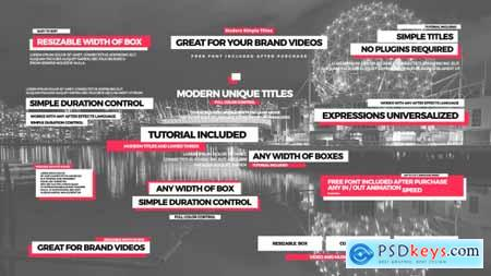 Videohive Simple Titles II Free