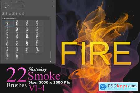 Fire and Smoke Photoshop Brushes