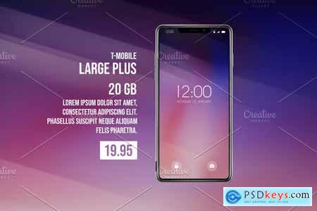 Smartphone Mock-Ups Foldable screen